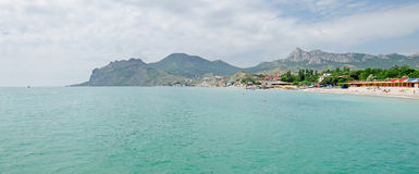 The coast of Koktebel in the summer Royalty Free Stock Images
