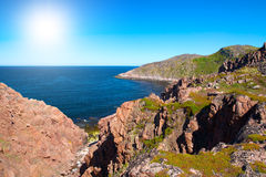 Coast of Kola Peninsula. Royalty Free Stock Image
