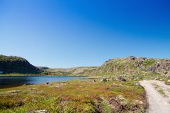 Coast of Kola Peninsula. Royalty Free Stock Photo