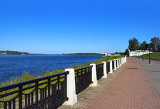 Coast in Kostroma city Stock Photos