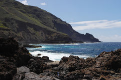 The coast of the La Palma island Stock Photos