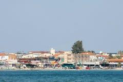 Coast of Laganas resort on Zakynthos island Stock Photography