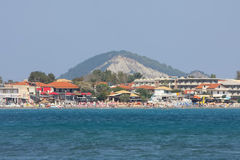 Coast of Laganas on Zakynthos Stock Images