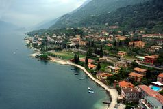 Coast of Lago di Garda lake Royalty Free Stock Photography