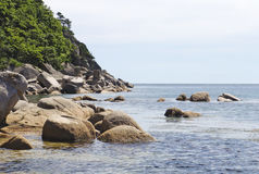 Coast of lake Baikal Royalty Free Stock Photo