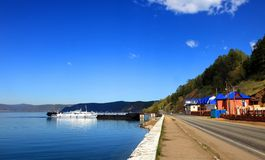 Coast of the lake Baikal Stock Photography