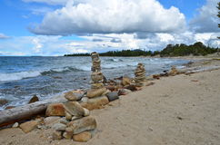 Coast of Lake Baikal. Russia. Coast of Lake Baikal. A natural background. Russia Royalty Free Stock Photo