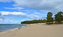 Coast of Lake Baikal. Russia. Coast of Lake Baikal. A natural background. Russia Royalty Free Stock Photos