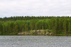 Coast of Lake Onega. Karelia Royalty Free Stock Photos