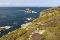 Coast at Land End, Cornwall Stock Images