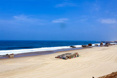 Coast of Landes, France Royalty Free Stock Photo