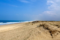 Coast of Landes, France Royalty Free Stock Images