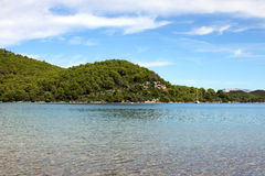Coast landscape, Croatia. Summer. Adriatic sea not far from Dubrovnik Royalty Free Stock Image
