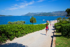 Coast landscape in Dalmatia, Croatia Stock Photos
