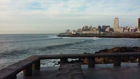 Coast Landscape. Mar de Plata Landscape. Seaside Stock Photo