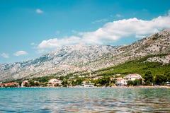 Coast. Landscape of coast with mountains range Royalty Free Stock Photo