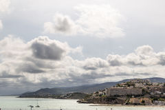 Coast landscape in Peniscola, Spain Stock Images