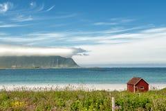 Famous white beach in Lofoten Stock Photos
