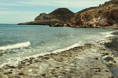 Coast in Las Negras, Spain stock images