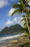 Coast of  Le Diamant in Martinique Royalty Free Stock Images