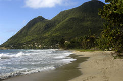 The coast of  Le Diamant in Martinique Royalty Free Stock Images