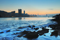 The coast of Lei Yue Mun Stock Photo