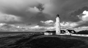 Coast light house in BW Stock Photos