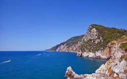 Coast of Ligurian Riviera in summer Royalty Free Stock Photos