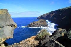 Coast lin of Canary island La Palma Stock Images