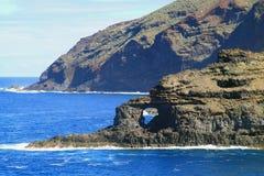 Coast lin of Canary island La Palma Stock Image