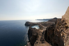 Coast of Lindos, Greece Stock Images