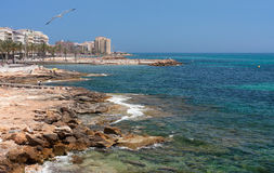 Coast line. Of torrevieja (spain Royalty Free Stock Images