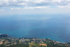 Coast line from above Stock Photography