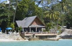 Coast line bar with a tropical background Stock Photos