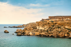 Coast line on Gozo Island, Malta Stock Image
