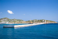Coast line at Ibiza, Spain Royalty Free Stock Images