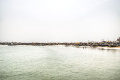 The coast line of Jamestown, Accra, Ghana Royalty Free Stock Photo