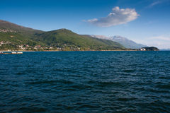 Coast line of lake Ohrid, Macedonia Stock Photos