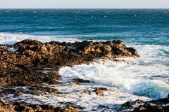 Coast line on Lanzarote, Canary island Stock Photo