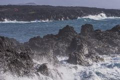 Coast line on Lanzarote Stock Images