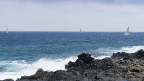 Coast line on Lanzarote Royalty Free Stock Photography