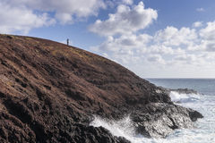 Coast line on Lanzarote Royalty Free Stock Images