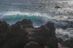 Coast line on Lanzarote Royalty Free Stock Photos