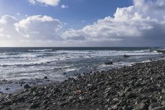 Coast line on Lanzarote Royalty Free Stock Photo