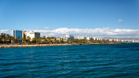Coast line of Limassol, Cyprus Stock Images