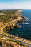 Coast line near the northern border of Israel Royalty Free Stock Photos