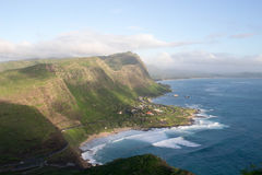 Coast line in the ocean. View of coast line in the ocean, Oahu, Hawaii Stock Image