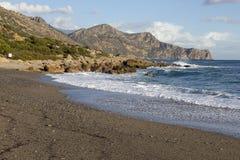 Coast line at Paleochora. Crete royalty free stock image