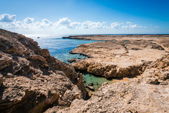 Coast line in Ras Mohamed National Park Royalty Free Stock Photography