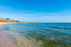 Coast line and beach. Coast line in Romania, Constanta, 23august Royalty Free Stock Photos